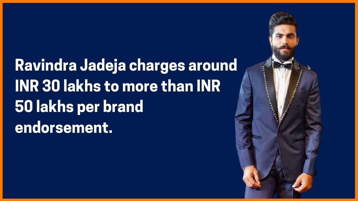 Ravindra Jadeja Brand Endorsement Fee