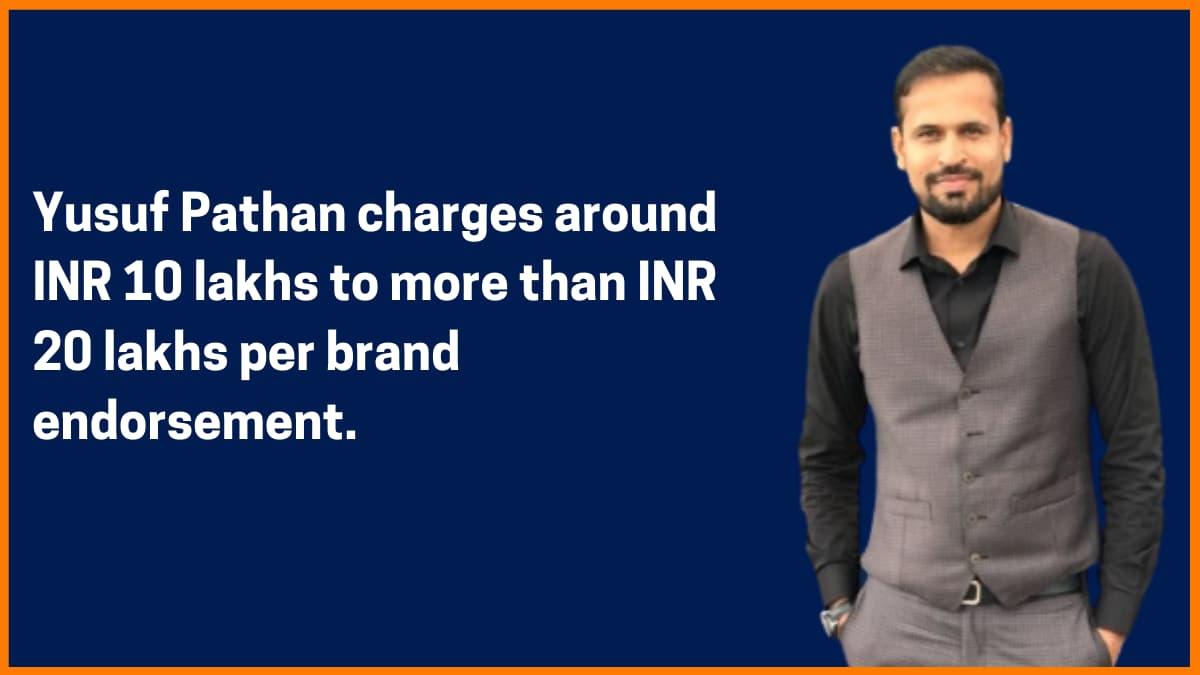 Yusuf Pathan Brand Endorsement Fee